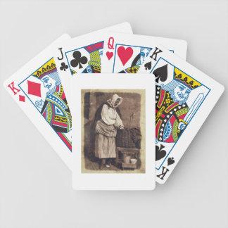 Ostronkvinna, 1843-47 (det salt pappra trycket frå spelkort