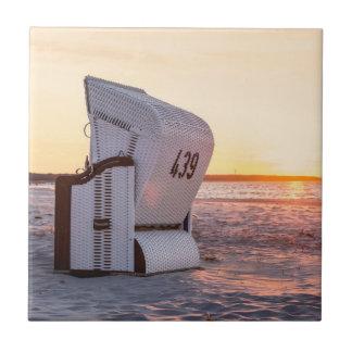 Ostsee solnedgång liten kakelplatta