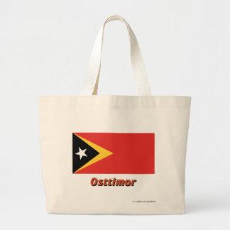 Osttimor Flagge mit Namen Tygkasse