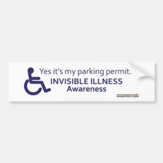 Osynlig sjukdom för rullstol bildekal