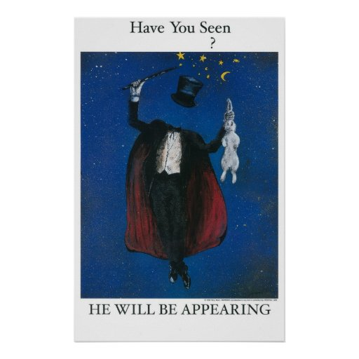 Osynlig trollkarl affischer