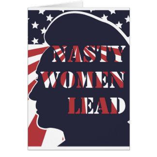 Otäcka kvinnor leder den politiska affischen hälsningskort