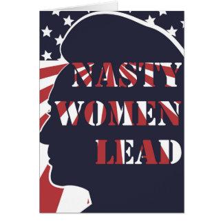 Otäcka kvinnor leder politisk demokratisk feminism hälsningskort
