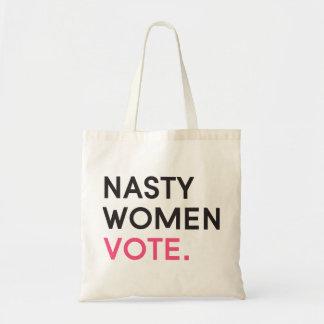 Otäcka kvinnor röstar rosor för toto | tygkasse