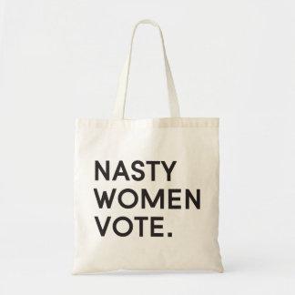 Otäcka kvinnor röstar toto tygkasse