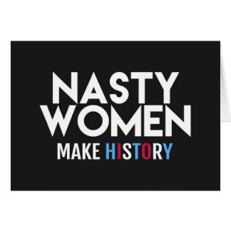 Otäckt kort för hälsning för kvinnadanandehistoria