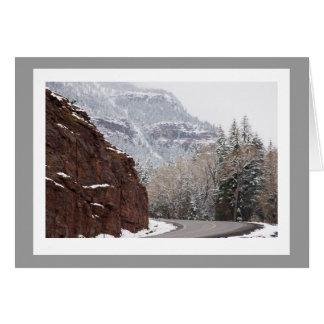Ouray kort för nya år för Colorado fotomall