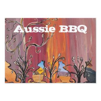 Outback Aussie BBQ-inbjudningar för kängurur 12,7 X 17,8 Cm Inbjudningskort
