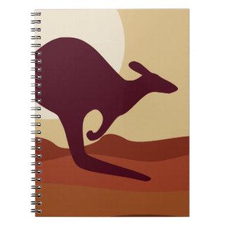 Outback känguru anteckningsbok med spiral