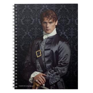 Outlander   Jamie Fraser - porträtt Anteckningsbok Med Spiral