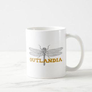 Outlandia slända i bärnsten kaffemugg
