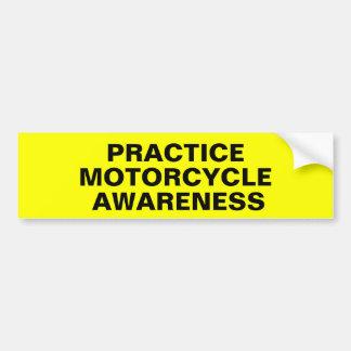 Öva motorcykelmedvetenheten bildekal