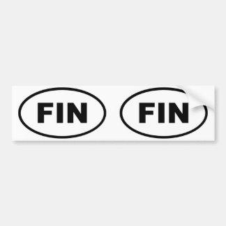 Oval för Finland FENAeuropé Bildekal