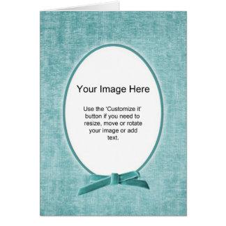 Oval fotomall - AquaChenille - tom insida Hälsningskort