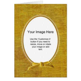 Oval fotomall - guld- Chenille - tom insida Hälsningskort