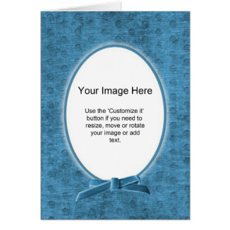 Oval fotomall - krickaChenille - tom insida Hälsningskort
