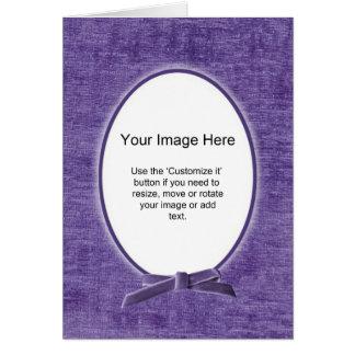 Oval fotomall - PurplChenille - tom insida Hälsningskort
