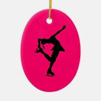 Oval-Hoad rosor & svart för skater Prydnad Julgransprydnad Keramik