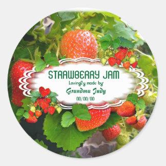 Oval klistermärke 3 för jordgubbesylt