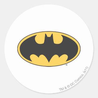 Oval logotyp för uppassaresymbol | runt klistermärke