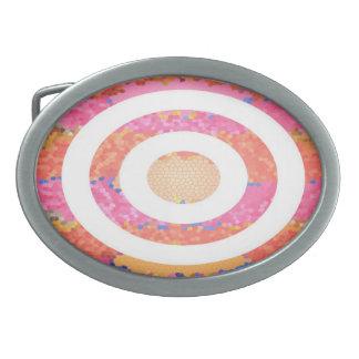 Oval målat glassrosapresentation