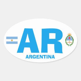 Oval Wisker för Argentina Eurostil Ovalt Klistermärke