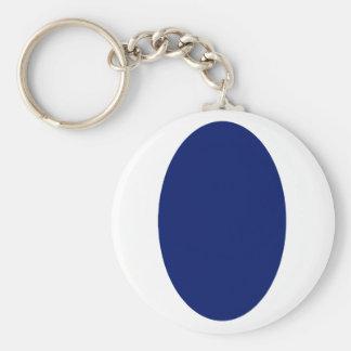 Ovala heltäckande för porträttblåttDK den MUSEUMZa Nyckelringar
