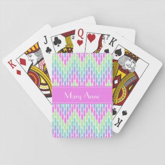 Ovaler och mjuka färger för sparrar spelkort