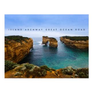 Övalvgång på den underbara havvägen, Australien Vykort