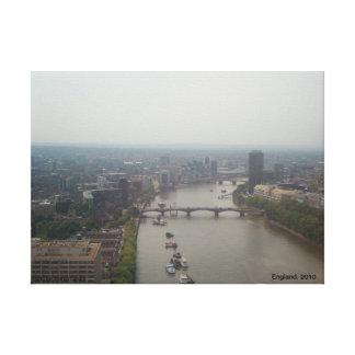 Ovanför det London ögat Canvastryck
