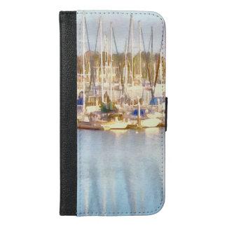 Ovanför och nedanfört iPhone 6/6s plus plånboksfodral