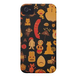 Ovanlig Monters för gullig rolig Retro stil iPhone 4 Case-Mate Skal