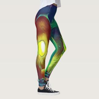 Ovanlig skraj Mång--Färg konstnärliga vinflaskor Leggings