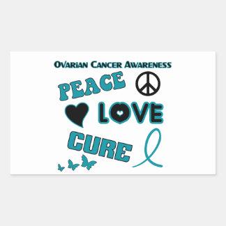 Ovarian cancermedvetenhet rektangulärt klistermärke