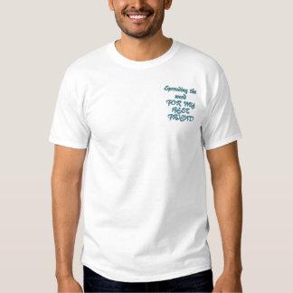 Ovarian skräddarsy cancermedvetenhet - broderad t-shirt