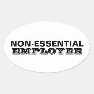 Oväsentlig anställd ovalt klistermärke