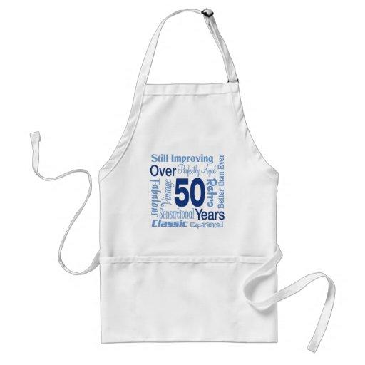 Över 50 år 50th födelsedag förkläden