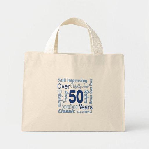 Över 50 år 50th födelsedag tote bag