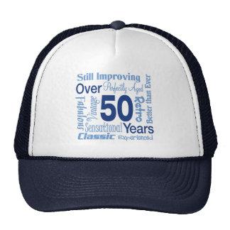 Över 50 år 50th födelsedag keps
