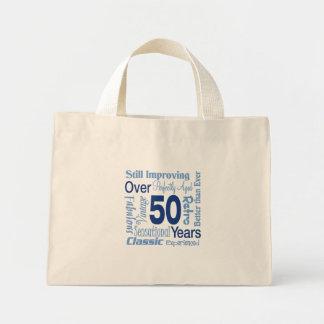 Över 50 år 50th födelsedag mini tygkasse