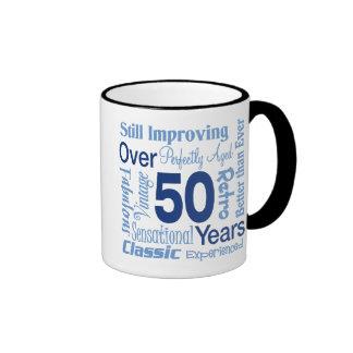 Över 50 år 50th födelsedag ringer mugg