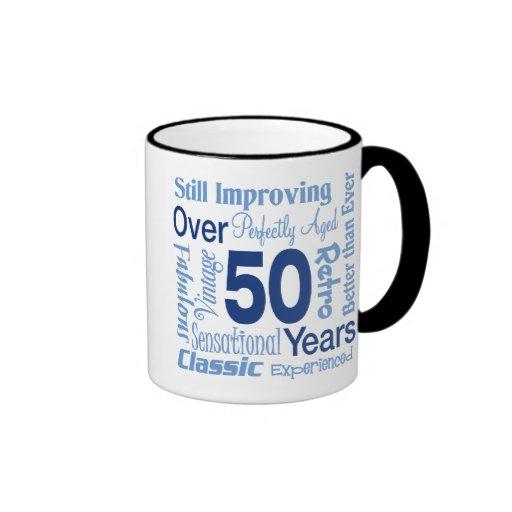 Över 50 år 50th födelsedag muggar