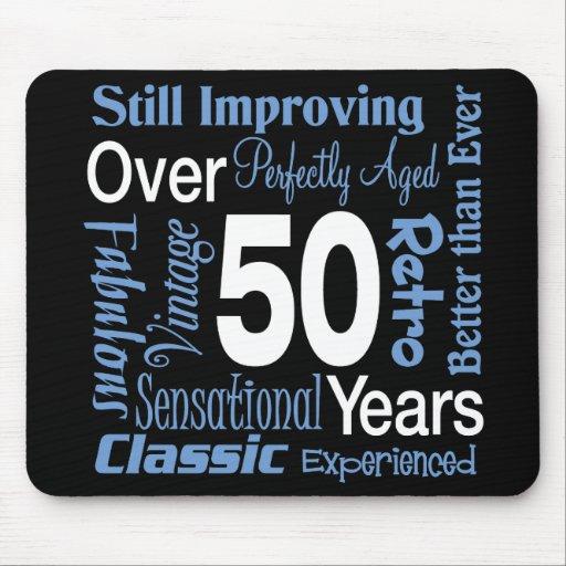 Över 50 år 50th födelsedag mus matta