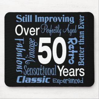 Över 50 år 50th födelsedag musmattor