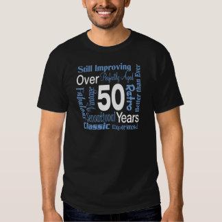 Över 50 år 50th födelsedag tröjor