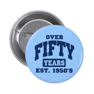 Över 50 år knapp med nål