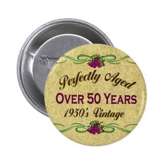 Över 50 år knappar med nål
