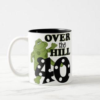 Över den 40th födelsedagen för backe kaffe muggar