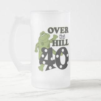 Över den 40th födelsedagen för backe mugg