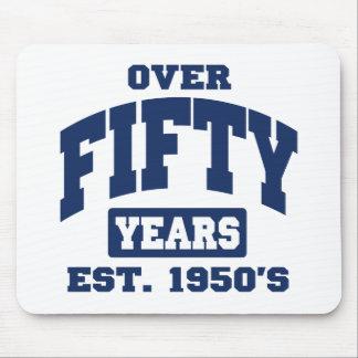 Över den 50th födelsedagen mus matta